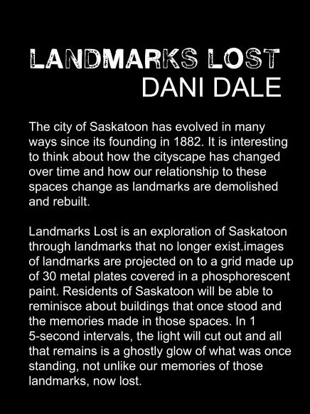 Landmarks lost artist statement